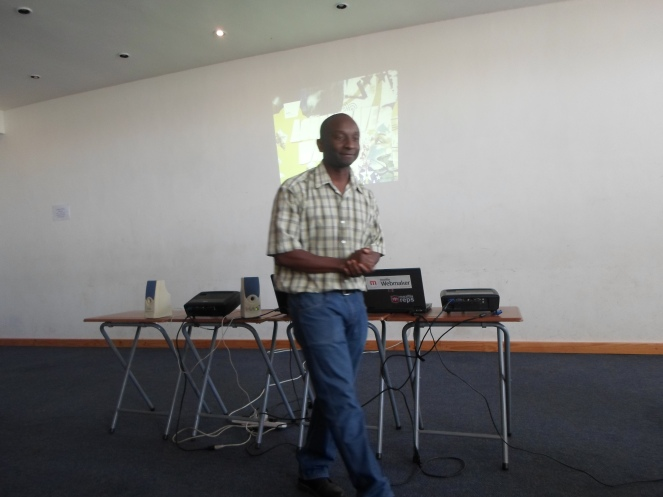 Nyathi introducing the first speaker