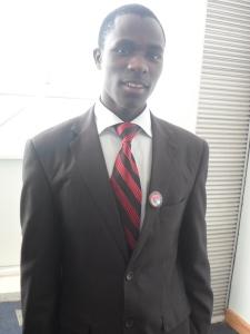 student wearing firefox badge