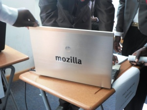 Laptop with mozilla sticker