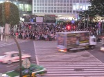 The intersection outside Shibuya station.