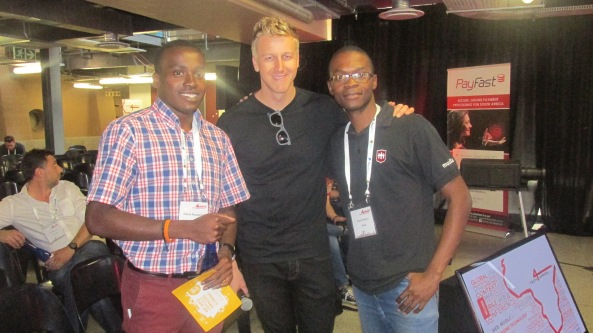I got a still with Gareth Cliff. Awesome